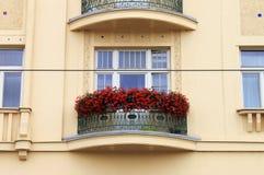 Balcón en el cuadrado de Navona, Roma Foto de archivo libre de regalías