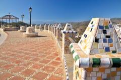 Balcón en las montañas foto de archivo libre de regalías