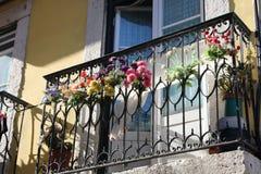 Balcón en Lisboa portugal Imagen de archivo libre de regalías
