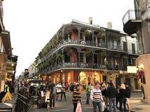 Balcón en Mardi Gras Fotografía de archivo libre de regalías
