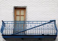 Balcón griego del estilo en Montreal Foto de archivo