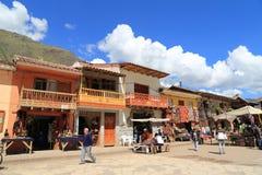 Balcón hermoso en Pisac, Perú Imagen de archivo libre de regalías
