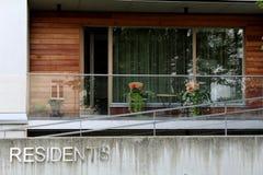 Balcón moderno Fotos de archivo libres de regalías