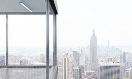 Balcón panorámico vacío ilustración del vector