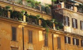 Balcón plano en el edificio de Europen Foto de archivo