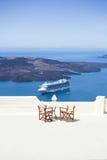 Balcón que pasa por alto el mar mediteranean Imagen de archivo