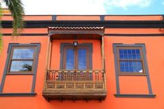 Balcón típico de Palmeras Imagen de archivo libre de regalías