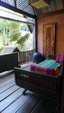 Balcón tailandés del centro turístico del estilo Imagen de archivo libre de regalías