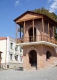 Balcón tradicional de Signagi Imagen de archivo libre de regalías
