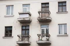 Balcón viejo en Minsk Foto de archivo libre de regalías