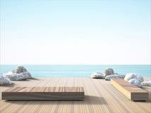 balcón y opiniones imponentes del mar libre illustration