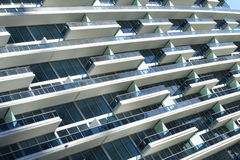 Balcões abstratos do edifício Imagem de Stock Royalty Free