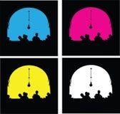 Balcões coloridos Foto de Stock