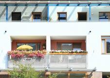 Balcões com flores Fotografia de Stock