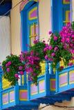 Balcões com flores Imagem de Stock Royalty Free