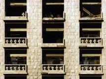 Balcões destruídos fotografia de stock royalty free