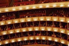 Balcões do teatro da ópera de Viena Fotografia de Stock