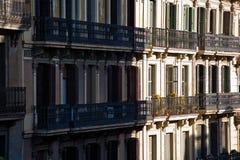 Balcões em Barcelona Imagem de Stock Royalty Free