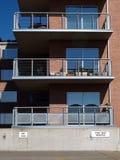 Balcões exteriores do apartamento Fotos de Stock Royalty Free