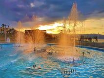 The Balcanian biggest fountain Stock Photography