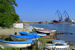 Balchick port boats Bulgaria Royalty Free Stock Photo