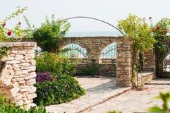 Balchik的庭院 免版税库存照片