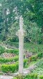 The Balchik Botanical Garden of romanian queen Marie, detail of an outdoor statue Stock Photography