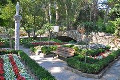 Balchik botanisk trädgård Arkivfoto