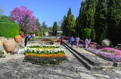 Botanical garden of the Romanian queen, Balchik, Bulgaria. stock image