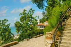 Balchik, de Zwarte Zee, Bulgarije Royalty-vrije Stock Fotografie