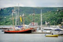 Balchik harbor view Royalty Free Stock Photography