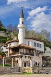 Landmark attraction in Bulgaria. Balchik Palace with the famous minaret Stock Photo