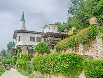 The Balchik Palace (Castle) of romanian queen Marie, botanic garden, green vegetation Stock Photo