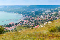 Balchik resort cityscape, Black Sea, Bulgaria Stock Photo