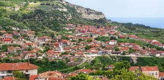 Balchik sikt, berömd badort, Bulgarien Royaltyfri Fotografi