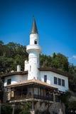 Balchik slott i den bulgariska Black Sea staden Royaltyfria Bilder