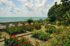 Balchik trädgård, Black Sea, Bulgarien Arkivbild