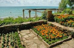 Balchik trädgård, Black Sea, Bulgarien Arkivbilder