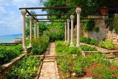 balchikträdgårdar Arkivbild
