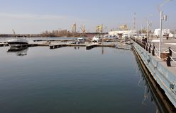Balcik port boats Royalty Free Stock Images