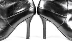 Balck女性鞋子 免版税库存照片