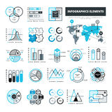 Balck And Blue Infographic Elements Royalty Free Stock Images