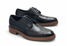 Balck Brogues Stock Photography