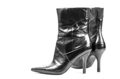 Balck female shoe Royalty Free Stock Image