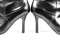 Balck female shoe Royalty Free Stock Photo