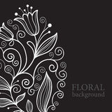 Balck floral background Stock Photos