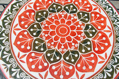 Balck and red flower paint design top of table Stock Photography