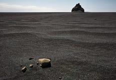 Balck sand landscape Royalty Free Stock Photo