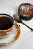 Balck tea on wood table Royalty Free Stock Photos