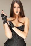 balck ubierająca kobieta Obrazy Stock